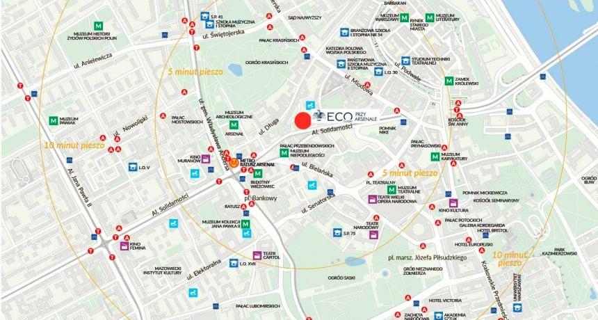 Apartamenty przy Arsenale mapa lokalizacji inwestycji